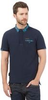 Voi Navy Checked Polo Shirt