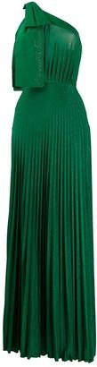 Elisabetta Franchi pleated logo dress