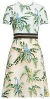 Stella McCartney Bird of Paradise Silk Crepe de Chine Dress