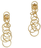 "Buccellati 18k Gold Honolulu Earrings, 1.5""L"