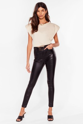 Nasty Gal Womens Get Coated High-Waisted Skinny Jeans - Black - 6