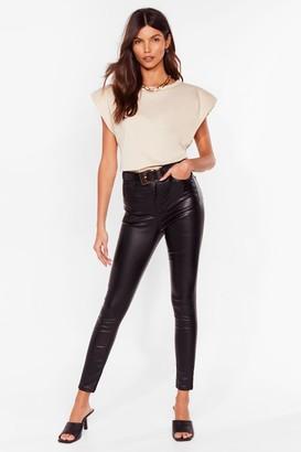 Nasty Gal Womens Get Coated High-Waisted Skinny Jeans - Black