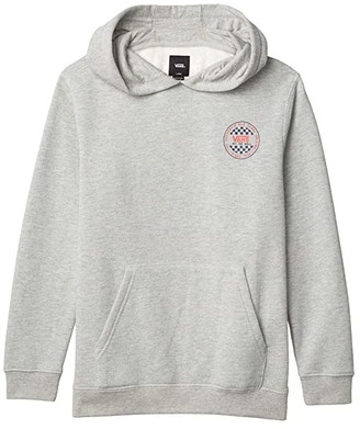 Vans Kids OG Checker Pullover Hoodie (Big Kids) (Cement Heather) Boy's Clothing