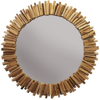 Shine Studio Driftwood Round Mirror