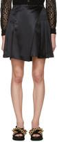 Burberry Black Silk Pleated Wrap Skirt