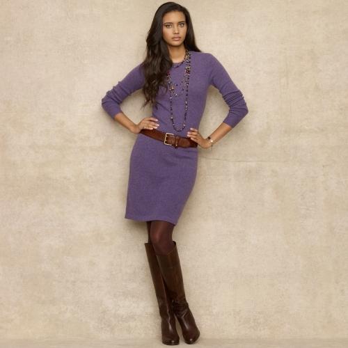 Ralph Lauren Blue Label Long-Sleeved Crewneck Dress