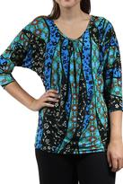 24/7 Comfort Apparel Abstract Mosaic Tunic