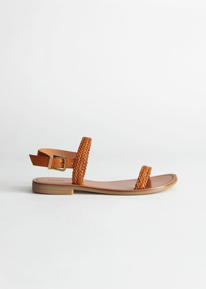 And other stories Slingback Braided Leather Sandals