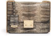 Henri Bendel Waldorf Snake Embossed Chain Party Bag