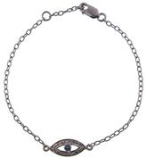 Ileana Makri IaM by Diamond and Sapphire Evil Eye Bracelet - Oxidized Sterling Silver