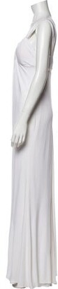 CARMEN MARCH Scoop Neck Long Dress White