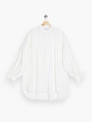 Topshop Oversized Babydoll Blouse - White