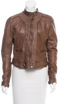 Cole Haan Fitted Leather Jacket