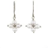 Ten Thousand Things Cross Pearl Earrings - Sterling Silver