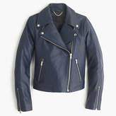 Womens Navy Leather Jacket - ShopStyle