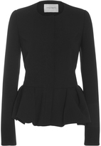 Carolina Herrera Peplum Long Sleeve Jacket