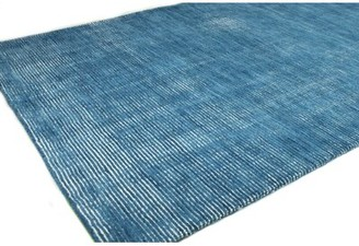 """Rosecliff Heights Fuller Hand-Knotted Wool Azure Rug Rug Size: Rectangle 8'6"""" x 11'6"""""""