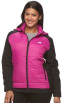 New Balance Plus Size Hooded Colorblock Mixed-Media Jacket