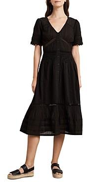 Velvet by Graham & Spencer Suri Cotton Lace-Trim Midi Dress
