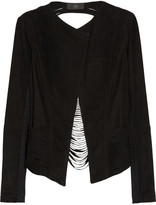 Veda Rothko shredded suede jacket