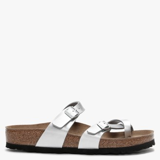 Birkenstock Mayari Silver Birko-Flor Thong Sandals