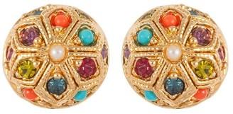 Susan Caplan Vintage 1990s Vintage Dorlan Round Clip-on Earrings