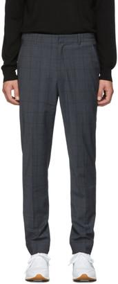 Tibi SSENSE Exclusive Grey Wool Windowpane Check Trousers