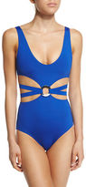 Proenza Schouler Cutout One-Piece Swimsuit w/Center Ring
