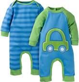 Gerber Baby-Boys Newborn Car 2 Pack Coverall, Car, 6-9 Months