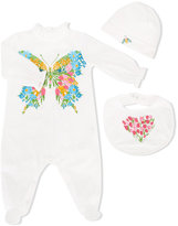 Gucci Kids - corsage print three-piece gift set - kids - Cotton - 3-6 mth