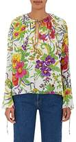 Balenciaga Women's Floral Silk-Blend Blouse