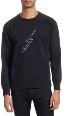 Givenchy Lightning Raglan-Sleeve Cotton Sweatshirt