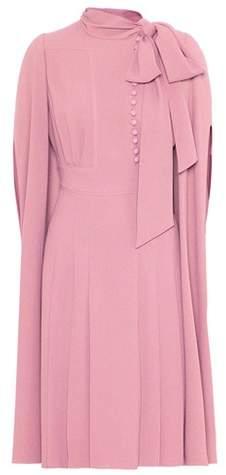 Valentino Caped crêpe dress
