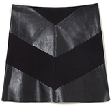 Vince Camuto Ponte & Faux Leather Skirt