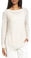 Nordstrom Women's Asymmetrical Linen & Silk Sweater