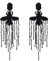 Gucci Bead-embellished bee earrings