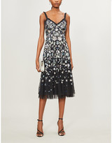Selfridges Needle And Thread Wildflower embellished sequin and tulle midi dress