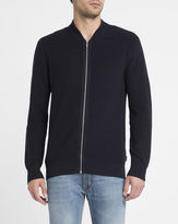 Ben Sherman Navy Zipped Cotton Cardigan