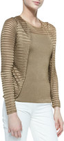 Ralph Lauren Black Label Open Mesh-Knit Cardigan, Dark Sand