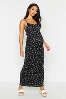 boohoo Maternity Floral Maxi Dress
