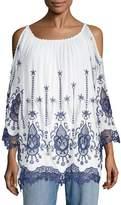 Le Marais Women's Embroidered Lace Blouse