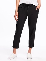 Old Navy Go-Dry Semi-Fitted Woven Tapered Pants for Women