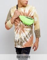 Reclaimed Vintage Inspired Bum Bag In Neon Green