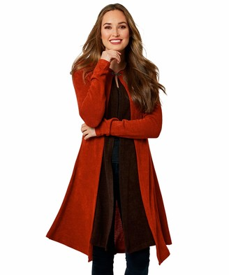 Joe Browns Womens Cloak Style Cardigan with Hood Orange 8