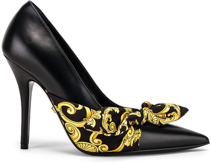 68e92d3d Print Heels in Black & Gold | FWRD
