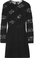 Sandro Ripe lace-paneled crepe mini dress