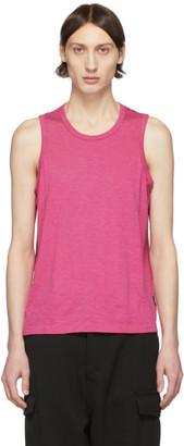 Ami Alexandre Mattiussi Pink Light Jersey Tank Top
