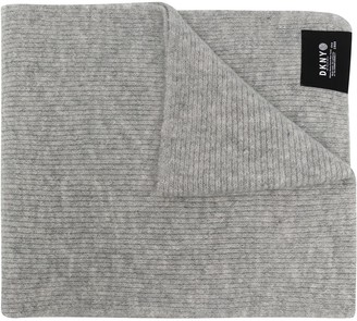 DKNY Logo Patch Knitted Scarf