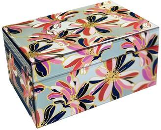 Trina Turk Floral & Stripes Mirror Accessories Box