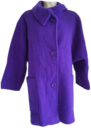 Non Signé / Unsigned Non Signe / Unsigned Oversize Purple Wool Coat for Women Vintage